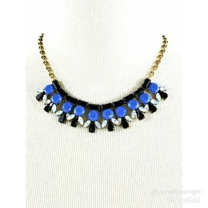 J. Crew crystal and rhinestone statement necklace